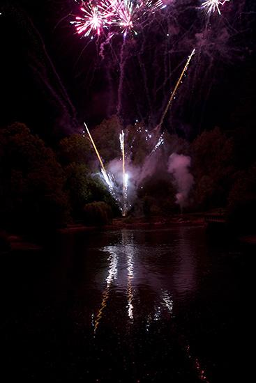 Distant Thunder Home Wedding Fireworks Bath