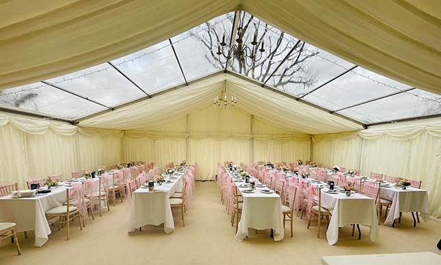 Wedding marquee hire in surrey request prices 433 miles countess marquees junglespirit Choice Image