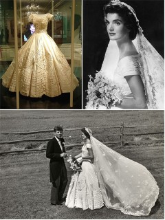 Iconic Wedding Dresses : Jacqueline Bouvier