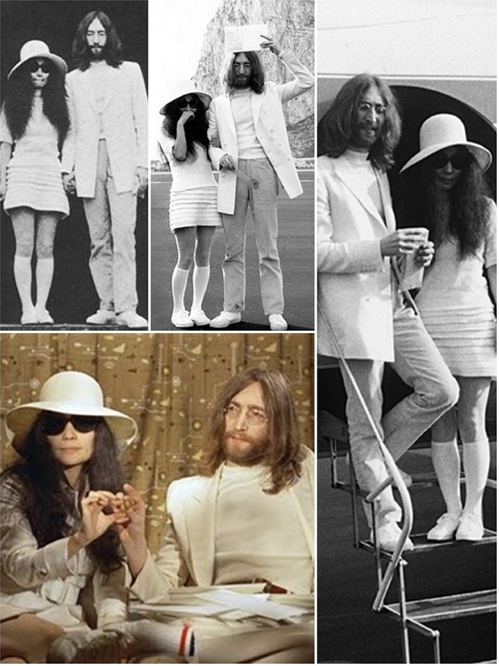 Iconic Wedding Dresses Yoko Ono