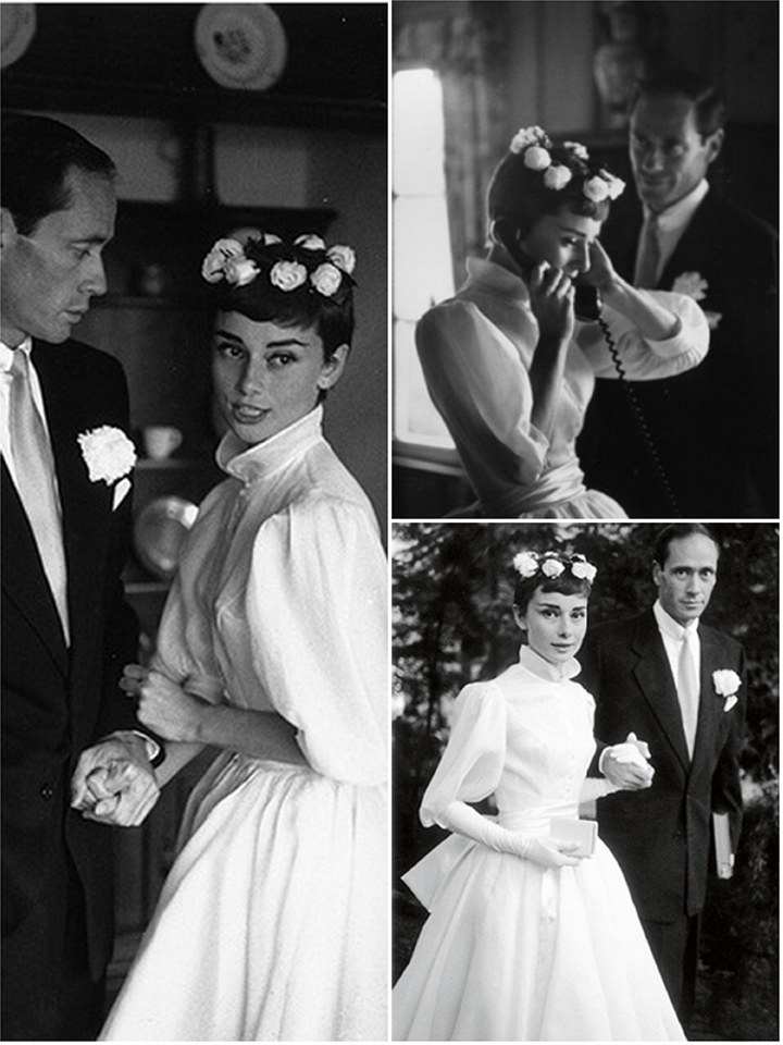 Audrey hepburn wedding dress images