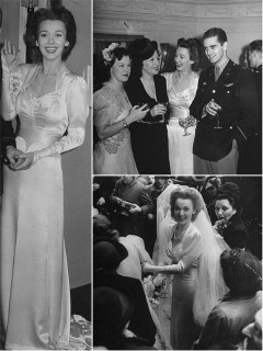 Iconic wedding dresses of the '40s