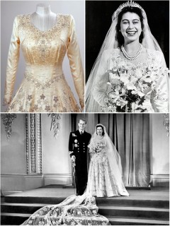 A look back at The Queen's wedding dress