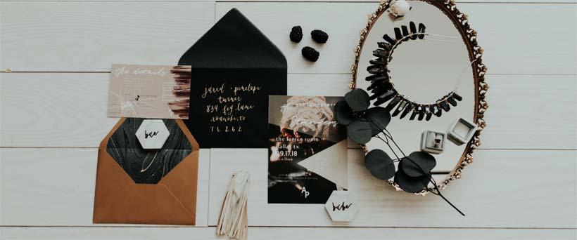 Autumn Themed DIY Wedding Invitations