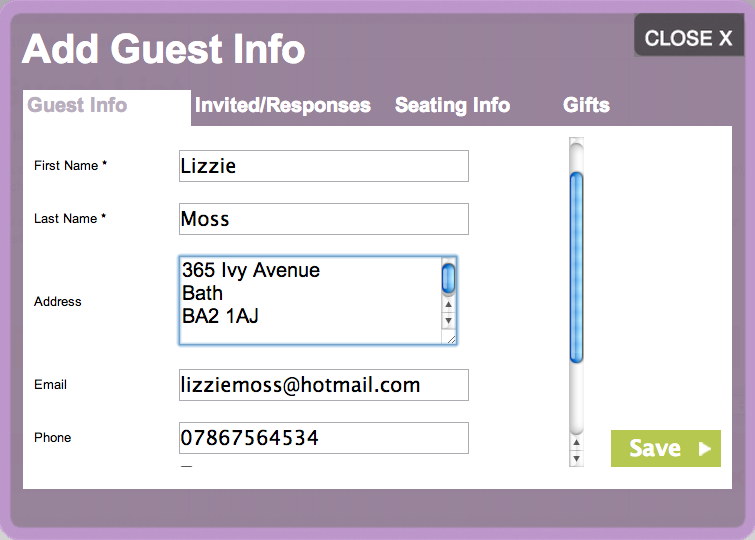 online guest list