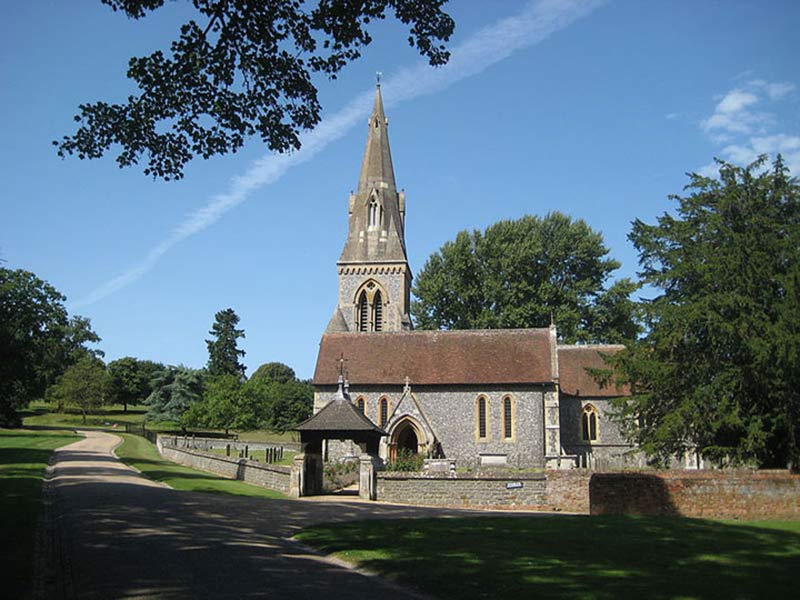 St Mark's Church in Englefield, Berkshire, where Pippa Middleton married James Matthews